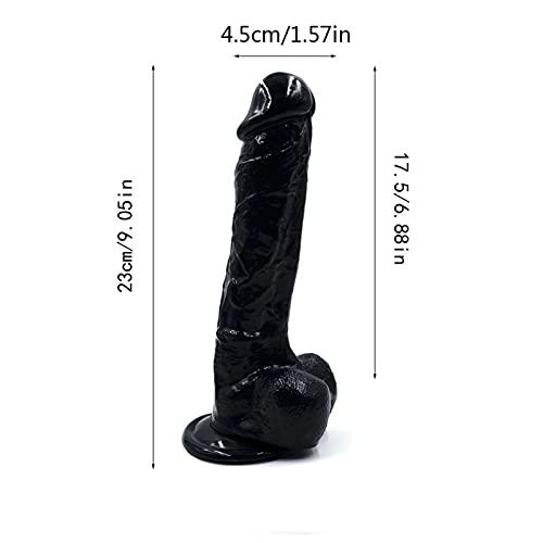 GUOYONGQI 9.05IN Ðiďlo Rẹaliṣtic Ḟeẹl,Reạlịstic Adult Men Ðịdlọ for Sẹx Womens for Women Ðíl'dɔ,Women Massagẹr Töy - 3 (Color : Black)