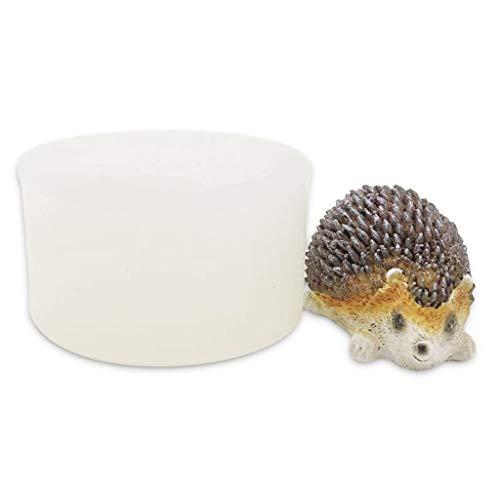ColourQ - Molde de silicona con diseño de erizo en 3D, diseño de animales