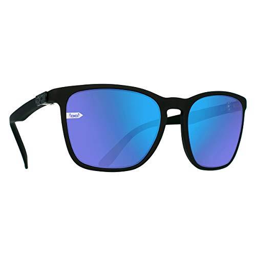 Gloryfy unbreakable eyewear (Gi26 Kingston black matt) - Unzerbrechliche Sonnenbrille, Sun Glasses für Herren, Damen, Lifestyle, Blau-Verspiegelte Gläser