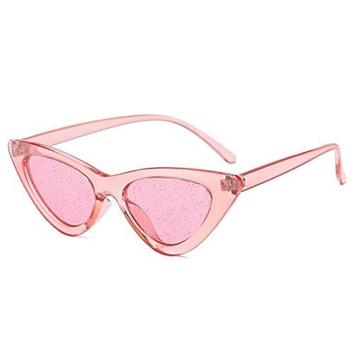 SHENY Occhiali da Sole Candy Colors Occhiali da Sole per Donna Cat Eye Occhiali da Sole Moda Donna Occhiali Cool Uv400 Rosa Rosa