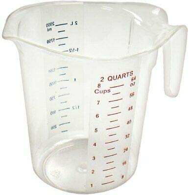 Measuring Cup, Polycarbonate, 2-Quart, Clear