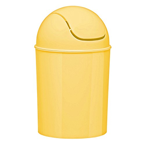 Umbra Mini Waste Can, 1.25 Gallon with Swing Lid (Yellow)