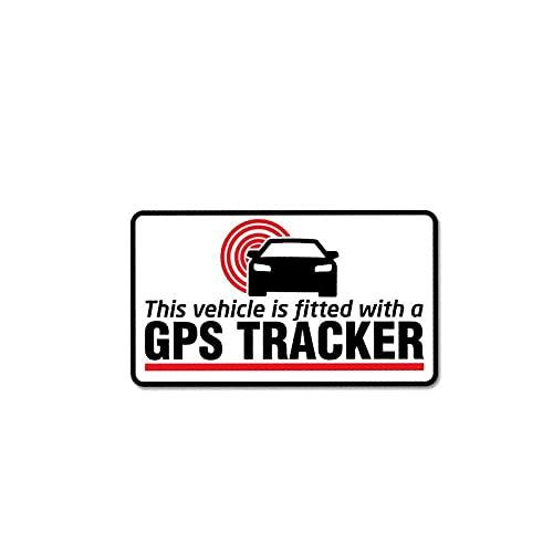 WBXZY Pegatinas de Coche 11 CM * 6,2 CM Pegatina de Advertencia para Coche PVC GPS Tracker calcomanía Equipada 12-1041