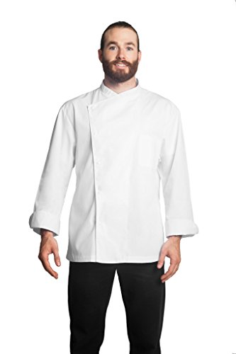 Bragard Men's Julius Chef Jacket, Single Breasted with Long Sleeve Coat for Cooking, Restaurants, Pubs, Cafes, Kitchens, Hotels, Bars - Size 50 - White