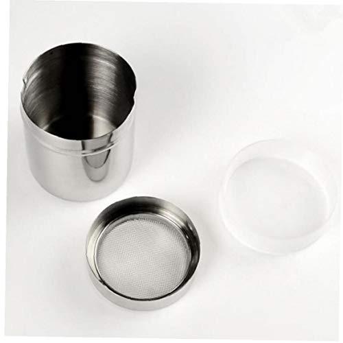 caffè Cacao in Polvere può Acciaio Inossidabile Sale Pepe Zucchero Shakers Condimento Condimento Bottiglia Ampolla Contenitore Farina Cioccolato Setaccio