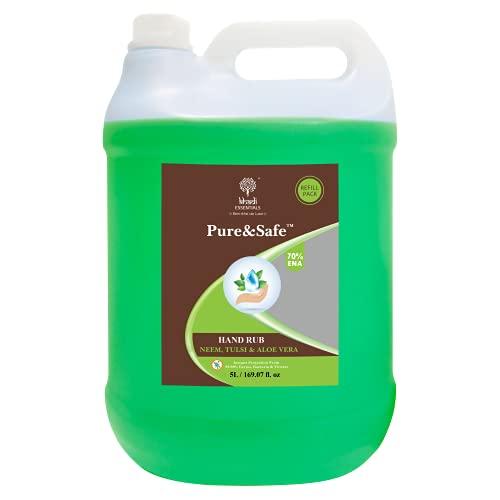 Khadi Essentials Pure&Safe Sanitizer 5 Litre Instant Hand Sa