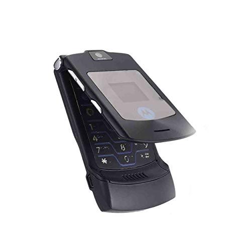 Lorenlli Téléphone Mobile Pliant Motorola Razr V3i + sans Simlock + avec Film + Topp