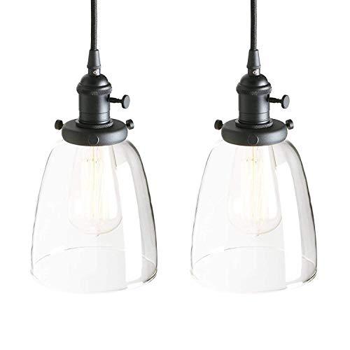 Hogreat Candelabro Candelabro Ara?a Retro Lámpara Colgante Edison Cobre Enchufe para candelabro Iluminación Decorativa Lámpara de Vidrio Campana (Color:Negro) (Color : Schwarz)