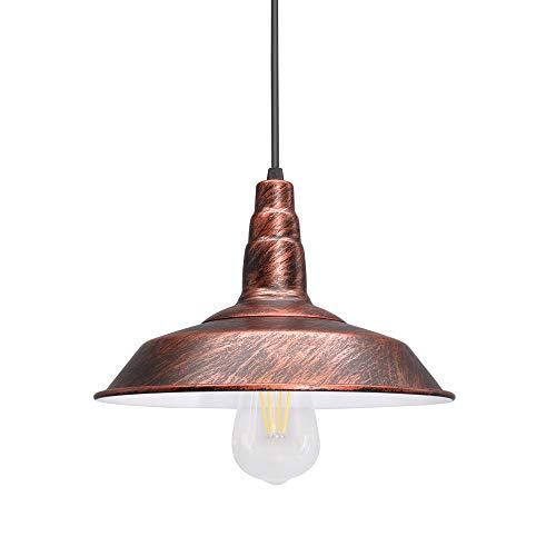 Lámpara colgante de techo vintage, lámparas de techo de interior Luces de techo E27 Bombilla Edison incluida, luz blanca cálida de 5W para cafetería Tienda Oficina Dormitorio Cocina Pasillo