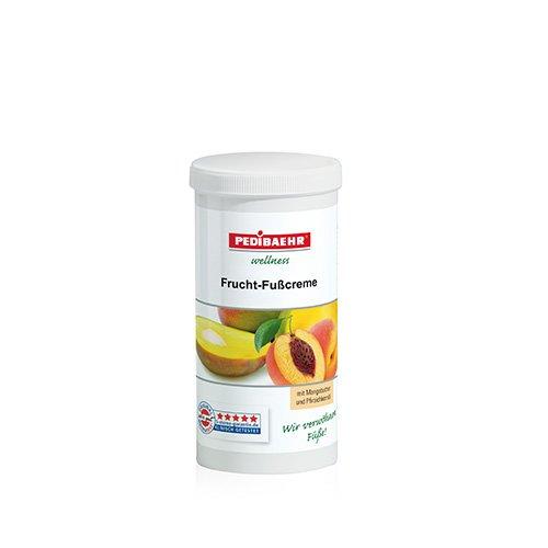 Fußbalsam, Frucht Fußcreme mit Mangobutter und Pfirsichkernöl Fusspflege für jeden Hauttyp, PediBaehr, 450 ml Nachfüller