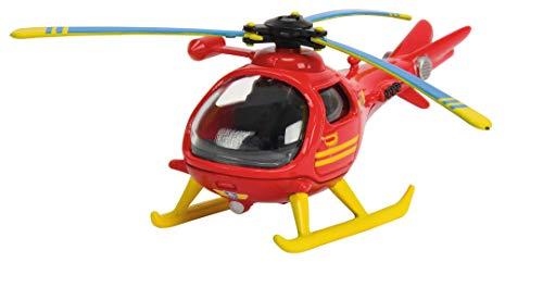 Dickie Toys Feuerwehrmann Sam Fire Rescue Centre, Rettungsstation, Spielzeughaus mit Helikopter, 48x26x23 cm