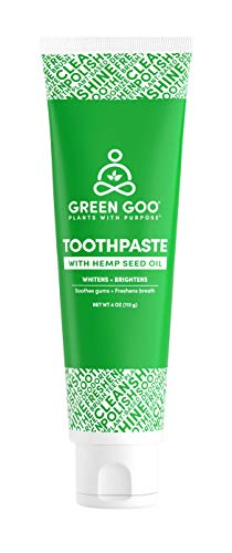 Green Goo All-Natural Peppermint Toothpaste with Hemp Seed Oil, 4-ounces