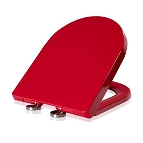 Ldwxxx Tapa de Inodoro Acolchada en Forma de U Tapa de Asiento de Inodoro Universal Silencioso Fácil de Instalar y Quitar Asiento de Inodoro fácil de Limpiar (Color : Red)