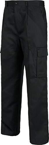 Work Team Pantalón. Elástico en cintura, multibolsillos: dos bolsos laterales en perneras. HOMBRE Negro 38