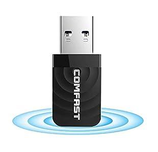 VRK Adaptador WiFi USB,Dongle WiFi 5GHz WiFi Adaptador USB 3.0 1300Mbps Dual Band 2.4GHz 5GHz Mini Adaptador WiFi para PC Portátil, Compatible con Windows XP / 7/8 / 8.1/10, MacOS 10.9-10.14