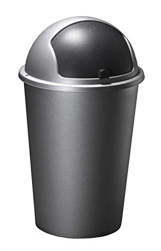 Home4You Mülleimer Abfalleimer | Kunststoff | Deckel | 50 Liter Fassungsvermögen