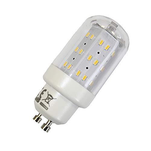 LED Leuchtmittel 4W GU10 3000K Warmweiss 230V 400lm Klar, Zylinder Form, Raumlicht, 270 Grad, Maxiflood, ersetzt 40W Halogen (1ER PACK-Warmweiss)