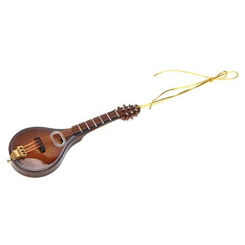 Mini modello di strumento musicale, replica di mandolino in miniatura da 10 cm, mandolino in miniatura da collezione, decorazione domestica per gli amanti della musica per regalo per bambini