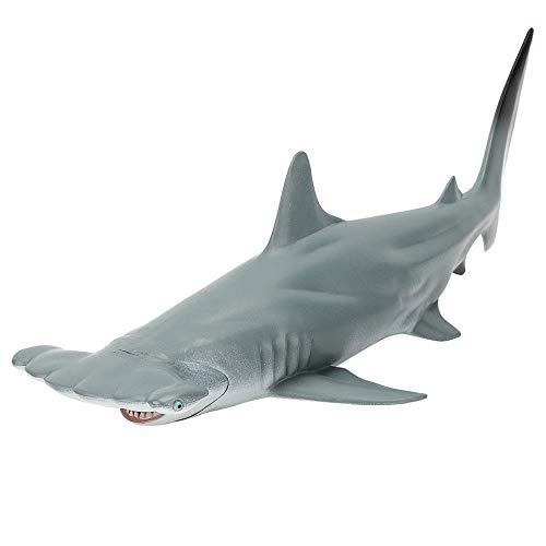 Simulation Megalodon Figur, Geschenk Haimodell, Kindererziehung für Kinder Junge(New hollow hammerhead shark)