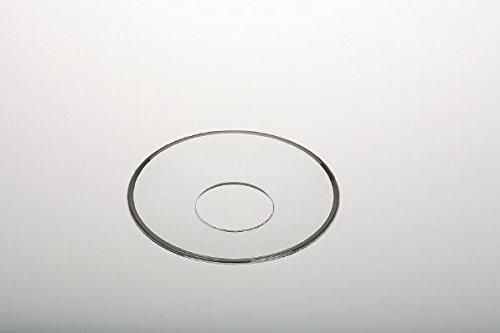 Tropfschale, Glas, Außen-Ø 6,8 cm Kerzentropfenfänger, Innen-Ø 2,5 cm Kerzentropfenfänger