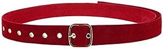 Happy-L New Velvet Cloth Widened Girdle Ladies Fashion Long Belt Pin Buckle Solid Color Soft Velvet Belt (Color : Red)