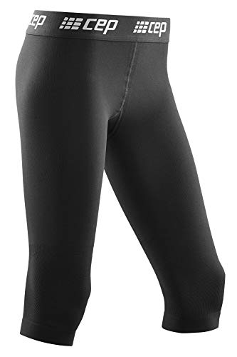 CEP - SKI 3/4 Base Tights voor heren | Warm skiondergoed met compressie