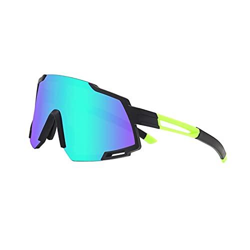 Gafas de sol polarizadas UV400, gafas deportivas, gafas de ciclismo anti-azul anti-UV con 5 lentes coloridas intercambiables para llevar la pesca de la pesca Trekking Skiing Vacation ( Size : A )