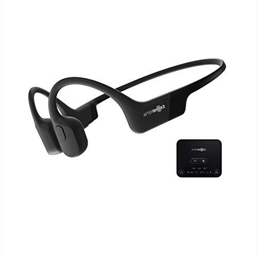 骨伝導 ワイヤレスヘッドホン テレビ用AfterShokz トランスミッターセット Bluetoothイヤホン aptx 低延遅 AS801-ABT01