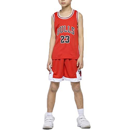 LIZTX Maglie da Basket Michael Jordan da Bambino Set-Bulls Jordan # 23 Tuta da Allenamento per Ragazzi E Ragazze da Basket Set da Allenamento per Bambini