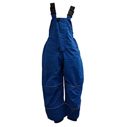 Outburst - Jungen Regenhose ungefüttert Matschhose mit Latz wasserdicht 10.000 mm Wassersäule atmungsaktiv Winddicht, blau - 4860357, Größe 116