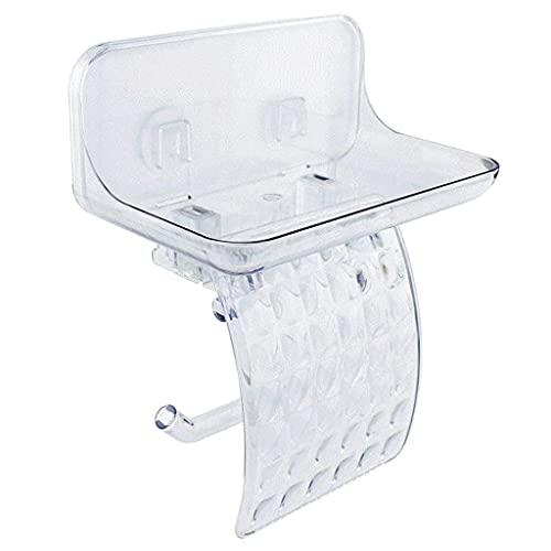 LAMZH Soporte de papel higiénico-plástico para estante de papel higiénico, accesorio para almacenamiento de pared, resistente al agua