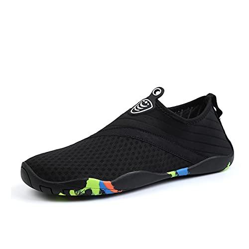 Zapatos De Agua, Zapatos De Agua Descalzos, Zapatos De Playa para Mujeres Y Hombres, Zapatos De Agua De Secado Rápido para Paseos En Bote En La Playa, Pesca, Yoga, Surf (35 (EU 37),Black)