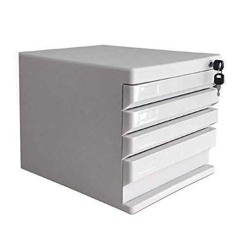 Equipo para el hogar Clasificador de archivos Gabinetes de oficina en casa Mini archivador Cajones Material de oficina Caja de almacenamiento de escritorio Cajón de cajón con riel deslizante integr