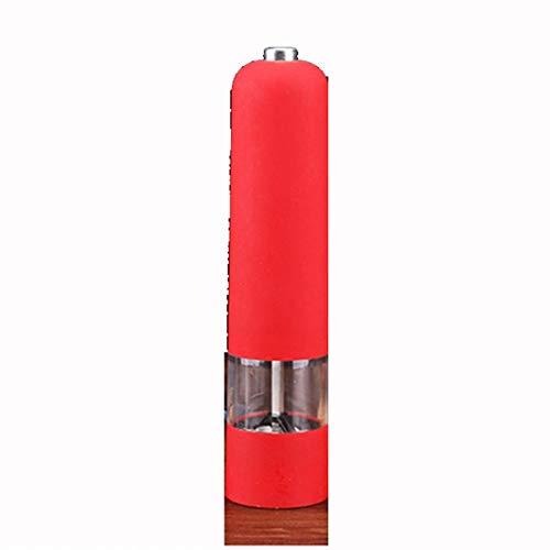 SHENAISHIREN Molinillo de Pimiento eléctrico, Molino de Molinillo de Sal con Mecanismo de cerámica de grosura Ajustable, ABS y operación automática de Cuerpo acrílico Claro (Color : A)