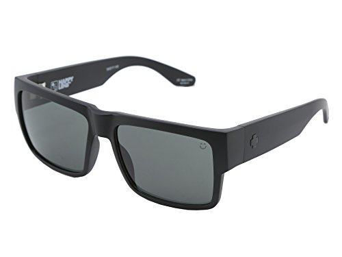 Spy Optic Cyrus Sunglasses Matte Black with Grey Green Lens Sticker