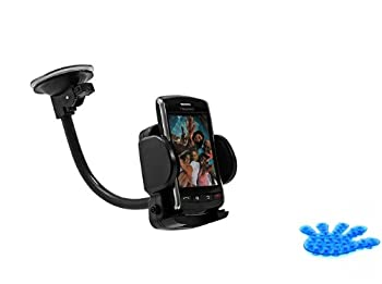 Universal Rotating Car Mount Auto Windshield Holder Dock Window Suction Cradle Stand for Verizon Casio G-zone Commando Comes with Suction Phone Holder