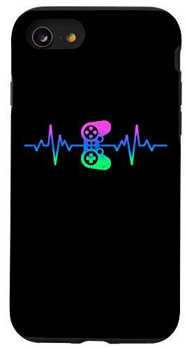 iPhone SE (2020) / 7 / 8 Heartbeat Gamer / Nerdy Gamer Design - Video Game Controller Case
