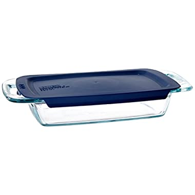 Pyrex Easy Grab 2-Quart Oblong Glass Bakeware Dish