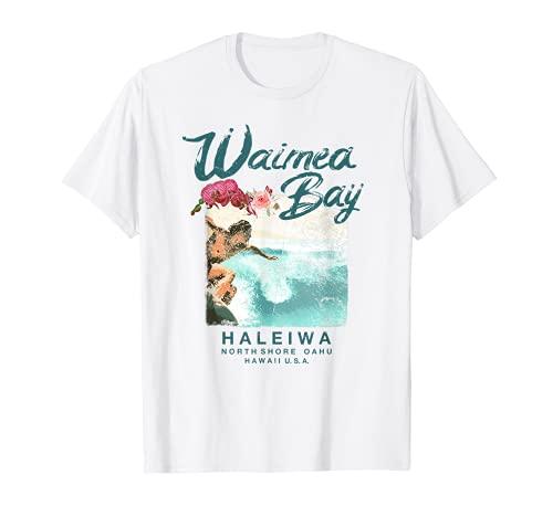 Waimea Bay Hawaii - Camiseta de surf hawaiana vintage Camiseta