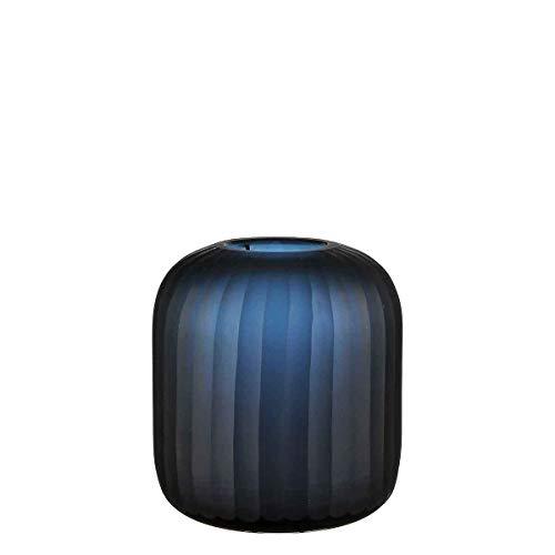 Casa Vivante Vaas Silva glas donkerblauw - 24 x Ø 20 cm