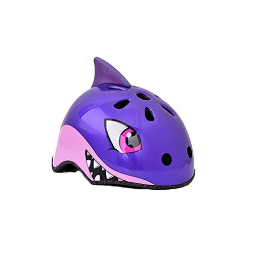WNLBLB Casco de bicicleta de los niños de dibujos animados de animales...