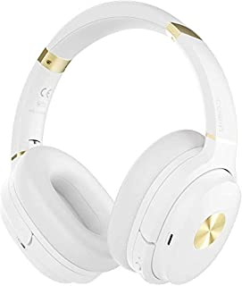 cowin SE7 Active Noise Cancelling Headphones Bluetooth Headphones Wireless Headphones Over Ear with Mic/Aptx, Comfortable Protein Earpads 50H Playtime, Foldable Headphones for Travel/Work (White)