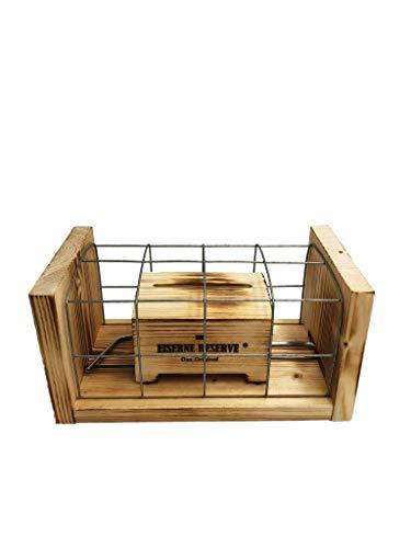 * Eiserne Reserve ® Geldbox Gitter incl. Säge - Geldgeschenk - Schatztruhe - Geschenkidee - Geld verschenken verpacken Geburtstag Hochzeit Reise