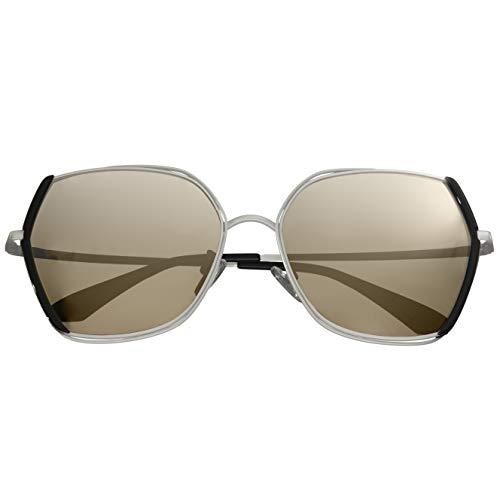 Bertha Remi Gold Damen Sonnenbrille Edelstahl schwarz quadratisch polarisiert BRSBR034GY, BRSBR034SL, Silber, BRSBR034SL