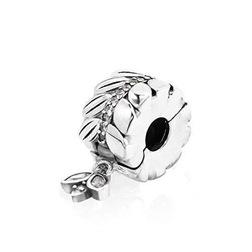 LISHOU DIY 925 Plata Esterlina Hojas De Abeja Enteras Lisas Se Ajustan Al Collar De Pulseras Pandora Originales para Mujeres Cuentas De Dijes Fabricación De Joyas