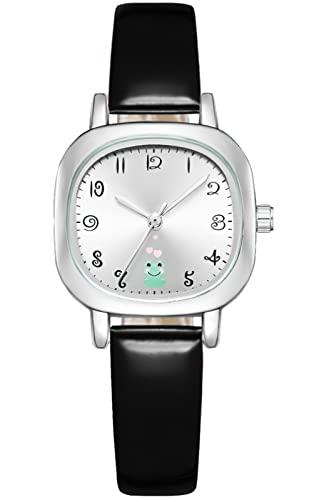 KDM Uhren Damen Einfache Beiläufig Platz Analog Quarz Uhr mit Leder Armband Mode Wasserdicht Arabische Zahlen Zifferblatt Armbanduhr für Damen Mädchen