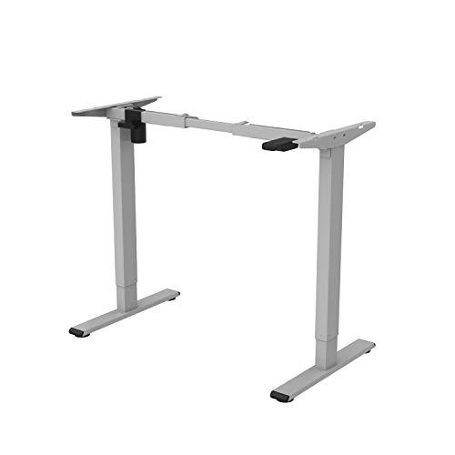 FLEXISPOT EG1 Escritorio de eléctrico ajustable en altura mesa gris elevable para oficina en casa...
