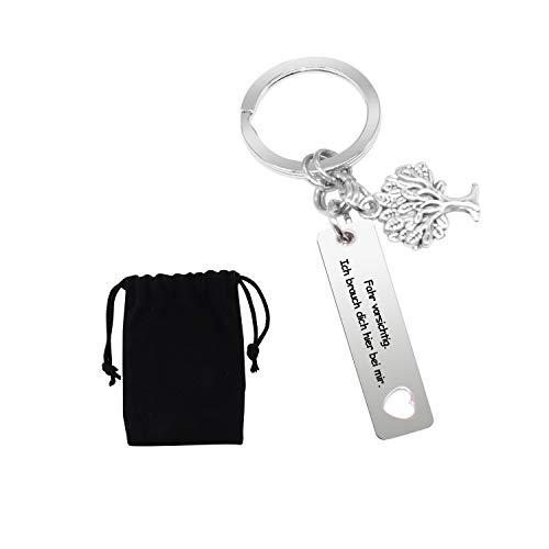 L&H Gadgets Drive Safe Schlüsselanhänger - Fahr Vorsichtig, Ich brauch Dich Hier bei Mir | Drive Safe I Need You Here with Me | Geschenk zum Neuen Auto Schlüsselanhänger Männer Baum des Lebens