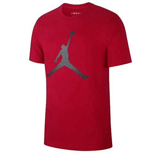 Nike M J Jumpman SS Crew T-Shirt à Manches Courtes pour Homme S Gym Red/Noir