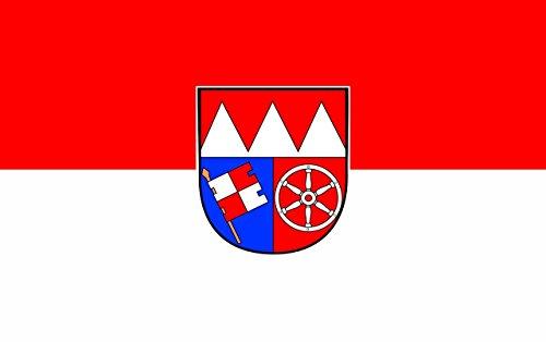 Flagge/Fahne UNTERFRANKEN Staatsflagge/Landesflagge/Hissflagge mit Ösen 150x90 cm, gute Qualität